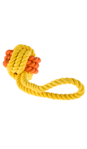Rubber Rope and Ball Dog Toy