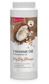 Dry Dog Shampoo - Coconut Oil & Macadamia Oil