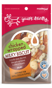 Chicken Wrapped Milky Biscuits Dog Treats