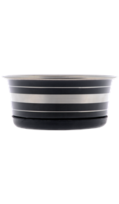Stainless Steel Black Bowl with Non Skid Base